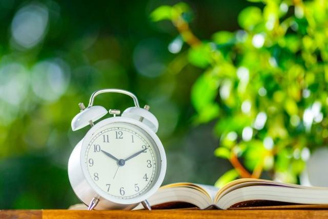 本を読む時間帯